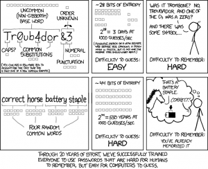XKCD Password Strength (https://www.xkcd.com/936/)